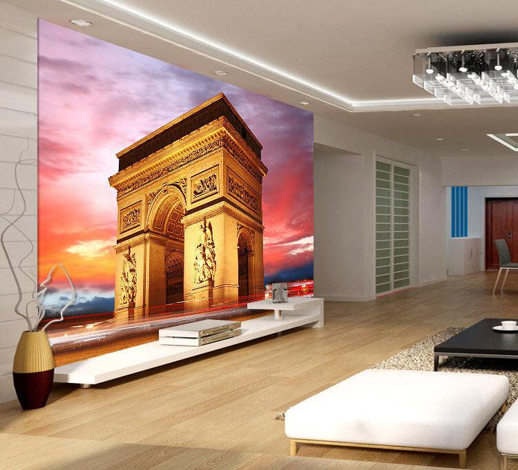 Triumphal Arch Night Full Wall Mural Photo Wallpaper Print Kids Home 3D Decal