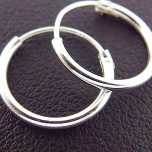Sleeper Hoop Earrings 925 Solid Sterling Silver Small