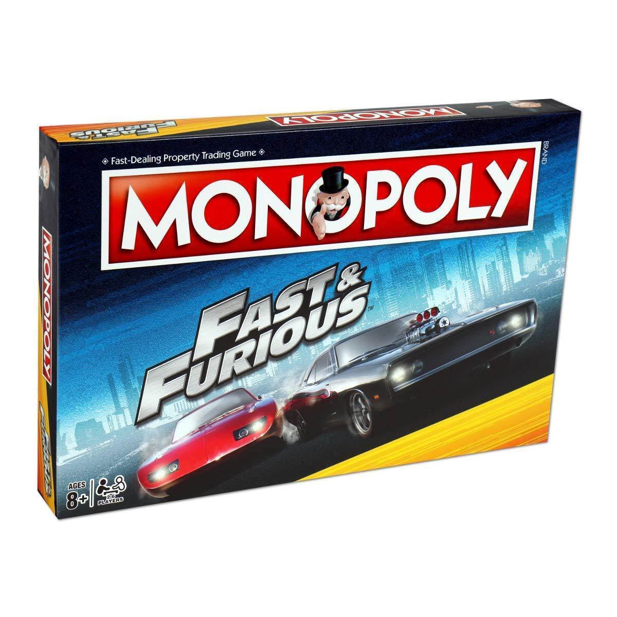 Fast & furious monopoly - spiel neu versiegelt