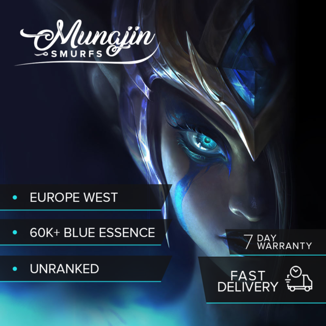 League of Legends Account - Unranked, Unverified and 60.000+ Blue Essence! [EUW]