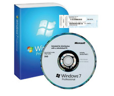 Windows 7 Pro Professional SP1 64Bit   COA License / Install DVD OEM
