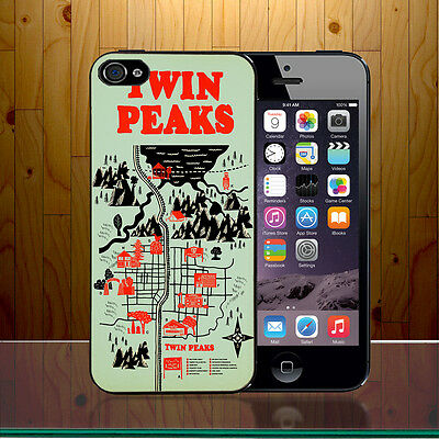Map Location Twin Peaks American Crime Mystery Drama Hard Phone Case Cover Z441