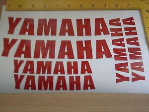 YAMAHA WHEEL STICKERS *REFLECTIVE * Motorcycle/Motorcross l Sticker Decals X6
