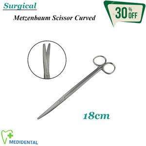 Chirurgie-Veterinaermedizin-Instrumente-Metzenbaum-Gebogen-18cm-Gewebe-Schneidend