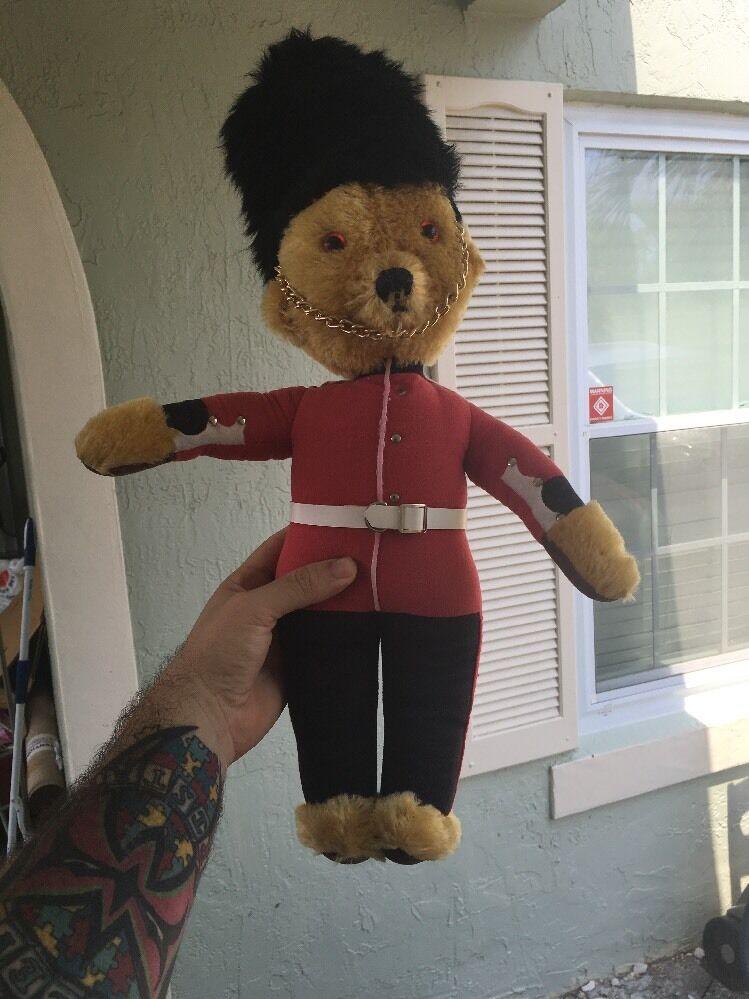 MerryThought Ironbridge Shrops Guardsman Teddy Bear VINTAGE England RARE 22