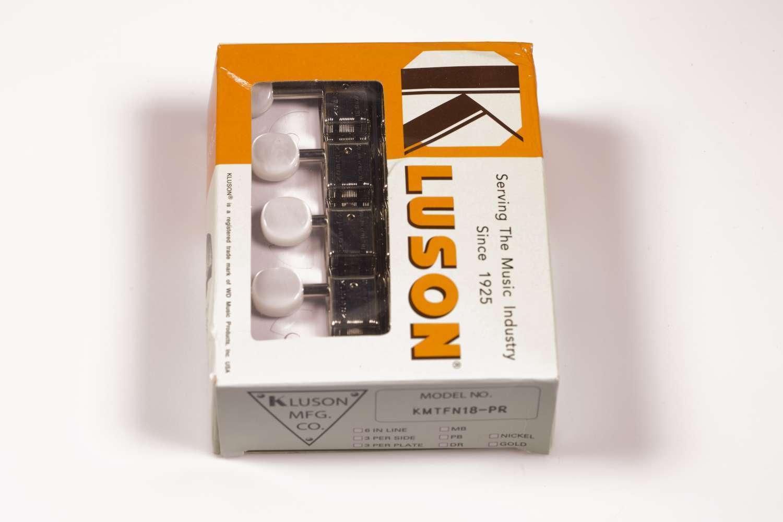 Kluson Supremo Mandolina Sintonizadores Sintonizadores Sintonizadores de níquel Tipo F, relación de 18 1, Botones De Perla 669e8e