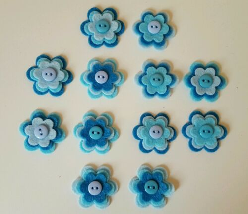X12 Felt Flower Embellishments Die cuts