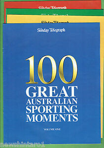 #T103.  SUNDAY TELEGRAPH NEWSPAPER 100 GREAT AUST. SPORTING MOMENTS