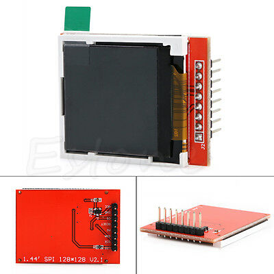 """1pc New 1.44"""" Red Serial LCD Display Module 128*128 TFT Color Screen PCB Adapter"""