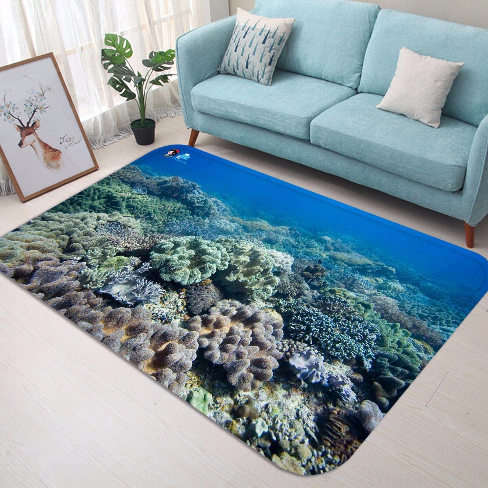 3D OCEANO CORALLO 46 tappetino antiscivolo tappeto camera Tappetino Qualità Elegante foto Tappeto UK