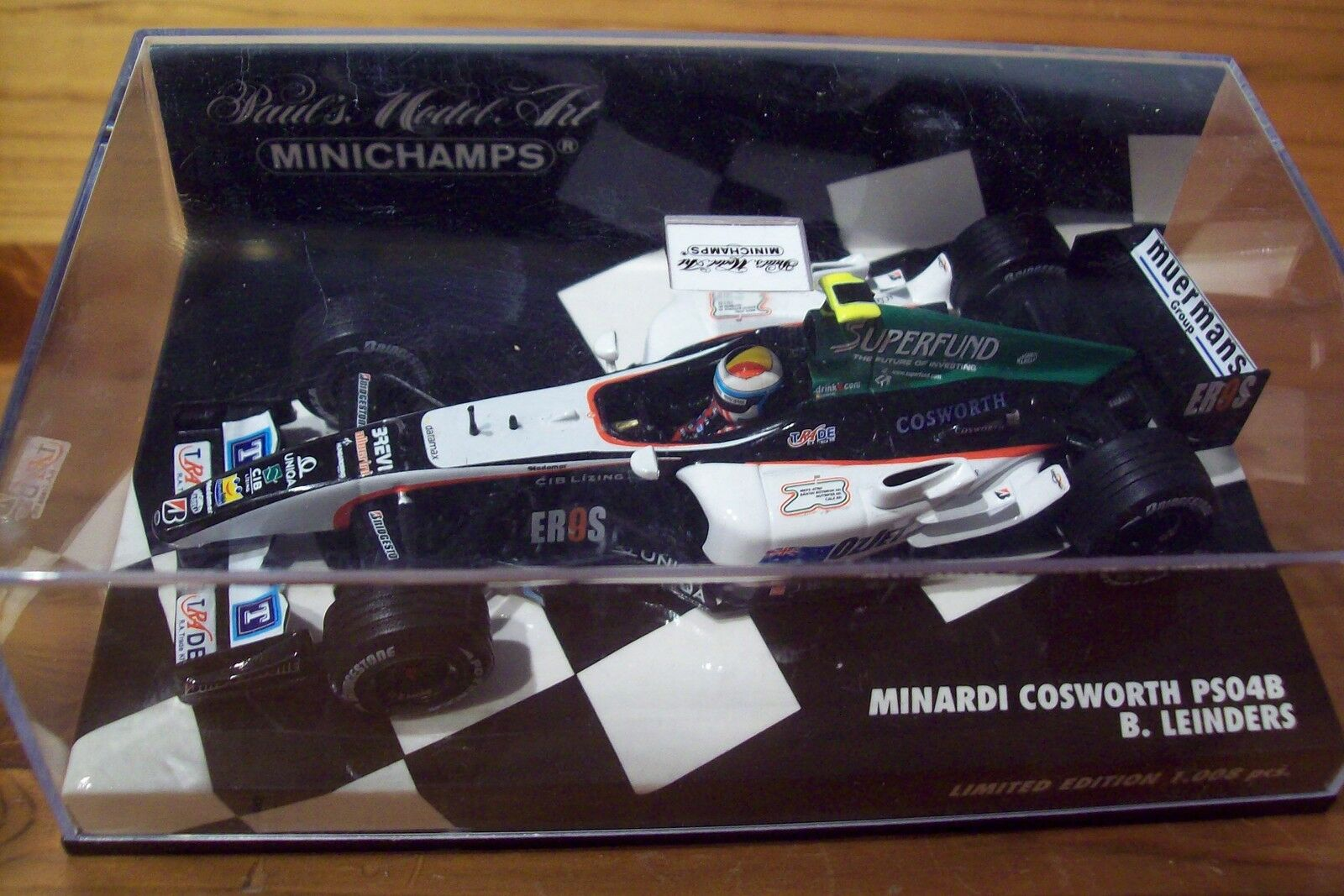 1 43 MINARDI 2004 PS04B COSWORTH BAS LEINDERS