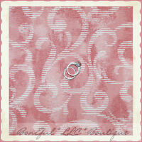 BonEful Fabric FQ Cotton Home DECOR Baby Girl VTG Rose Swirl Scroll Cream Stripe