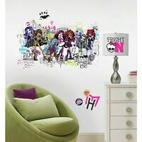 Monster High Group Giant Wall Decals Girls Room Stickers Bedroom Decor