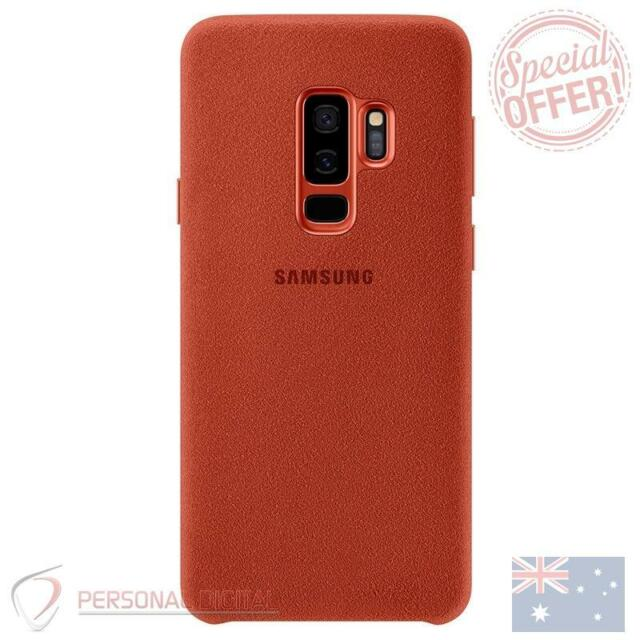 Genuine Samsung Galaxy S9 Plus (S9+) Alcantara Cover - Red New