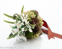 Moss Wedding Bouquet Bridal Bouquet Green Brown White