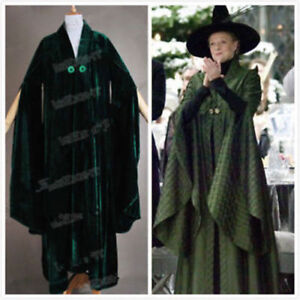 d27f8ed50d Image is loading Harry-Potter-Cosplay-Minerva-McGonagall-Costume-Cloak -Trench-