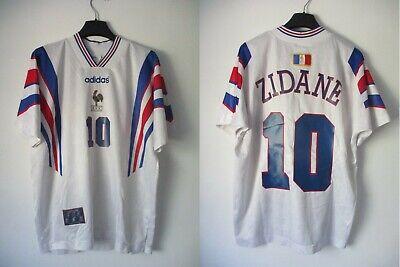 Maillot équipe de FRANCE Euro 96 vintage ZIDANE shirt camiseta trikot ADIDAS M | eBay