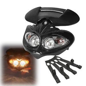 Black-Fairing-Street-Fighter-Headlight-Dual-Sport-Lamp-H-L-Beam-for-Motorcycles