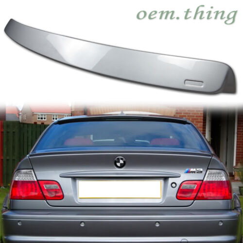 STOCK USA PAINTED BMW E46 3-SERIES 2D COUPE A TYPE REAR ROOF SPOILER #354