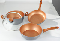 Copper 28cm Flavorstone Non-stick Pans Master Set | Danoz-full Warranty