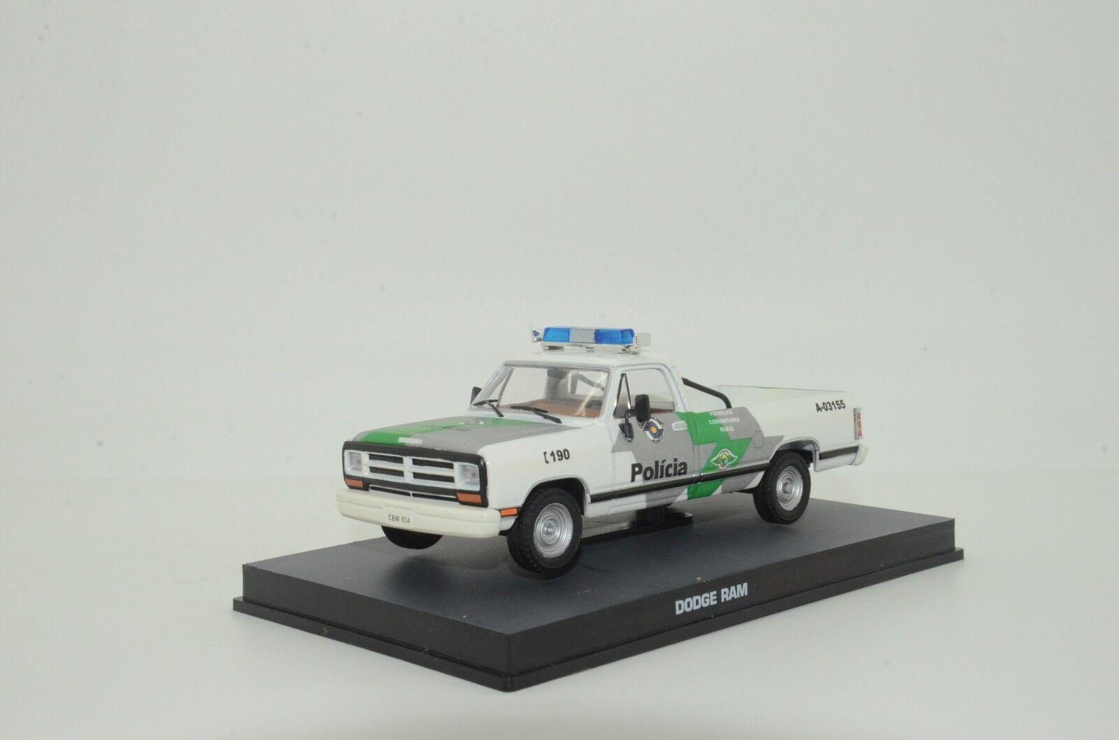 Rara Dodge Ram POLICIA policía militar de Brasil coche hecho a medida 1 43