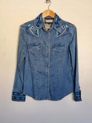 Women's Vintage Collection Denim Embroidered Fitte