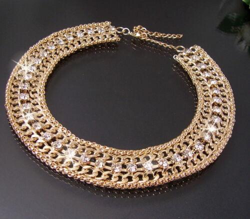 Statement Necklace Collier Blogger Silver Gold Rosé Jewellery Women/'s KV10