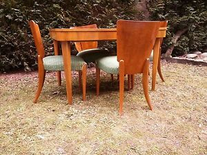 Image Is Loading Art Deco Model H 214 Dining Set By