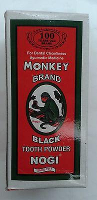 Monkey Brand  10 x 100 GM  Black Tooth Powder  100 Year Old Brand  Ayurvedic