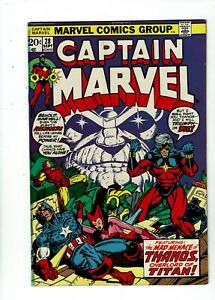 Captain-Marvel-28-VF-8-0-Thanos-Captain-America-1st-Appearance-Eon