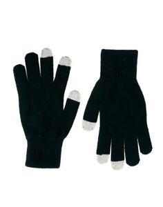 Touch-Screen-Gloves-iPhone-iPad-Phone-Magic-Black-UNISEX-KIDS-LADIES-MENS-GLOVE