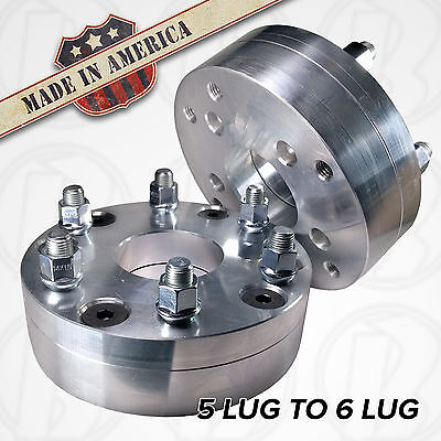 """2pc USA MADE 6x135mm x 5x5.5/"""" Wheel Adapter Spacer  2/"""" Thick 5x139.7mm"""