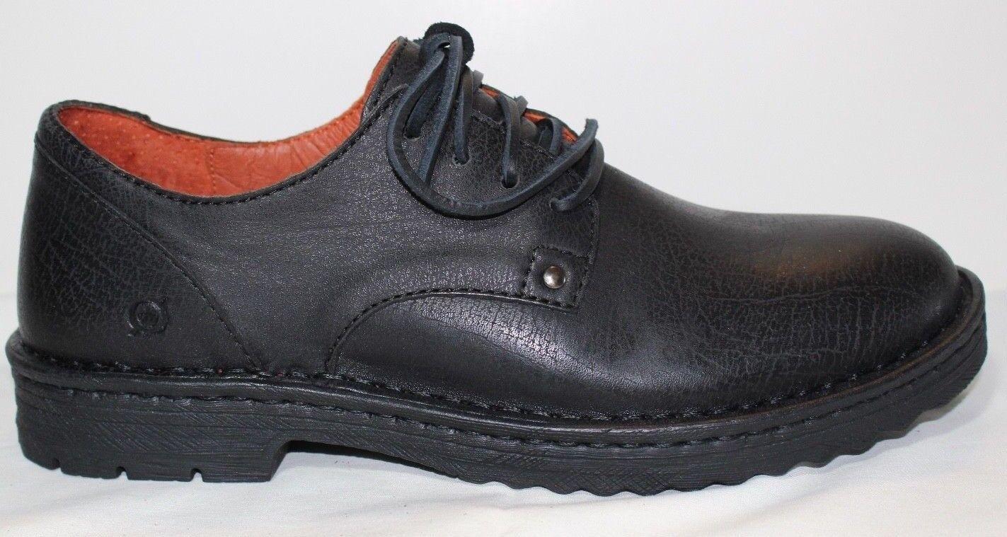 Zapatos Zapatos Zapatos de Cuero nuevo En Caja Born Para hombres Negro Samson H43403 10 M 744ac8