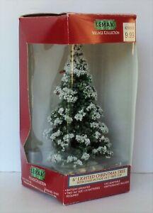 "1997 Lemax Village Accessory #74161 - Medium Lighted Christmas Tree (6"")"
