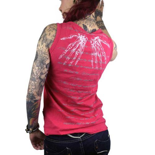"Shirt Damen Tank Top YAKUZA GSB 8118 /""Skeleton Crew/"" azalea rosa rot"