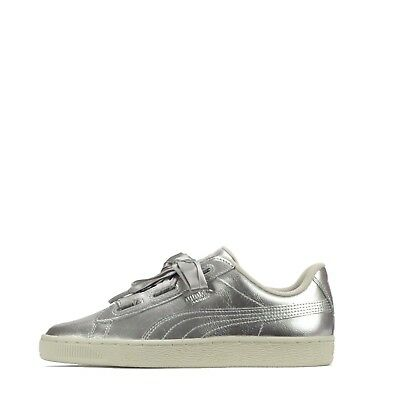 2019 Discount Puma Suede Heart Satin Trainers ( )4.5 Grey