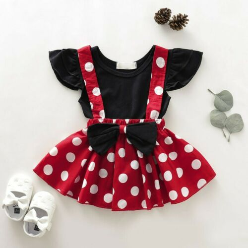 2PCS Toddler Kids Baby Girl Birthday T-shirt Tops+Skirt Dress Outfit Clothes Set