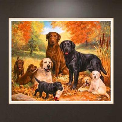 5D DIY Full Drill Diamond Painting Dog Embroidery Cross Stitch Home Decor Craft