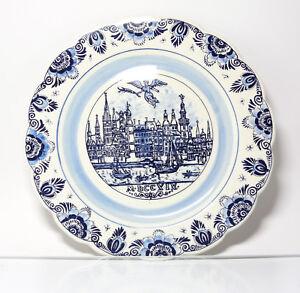 Plaque de collection assiette murale delfts bleu paysage - Assiette murale ...