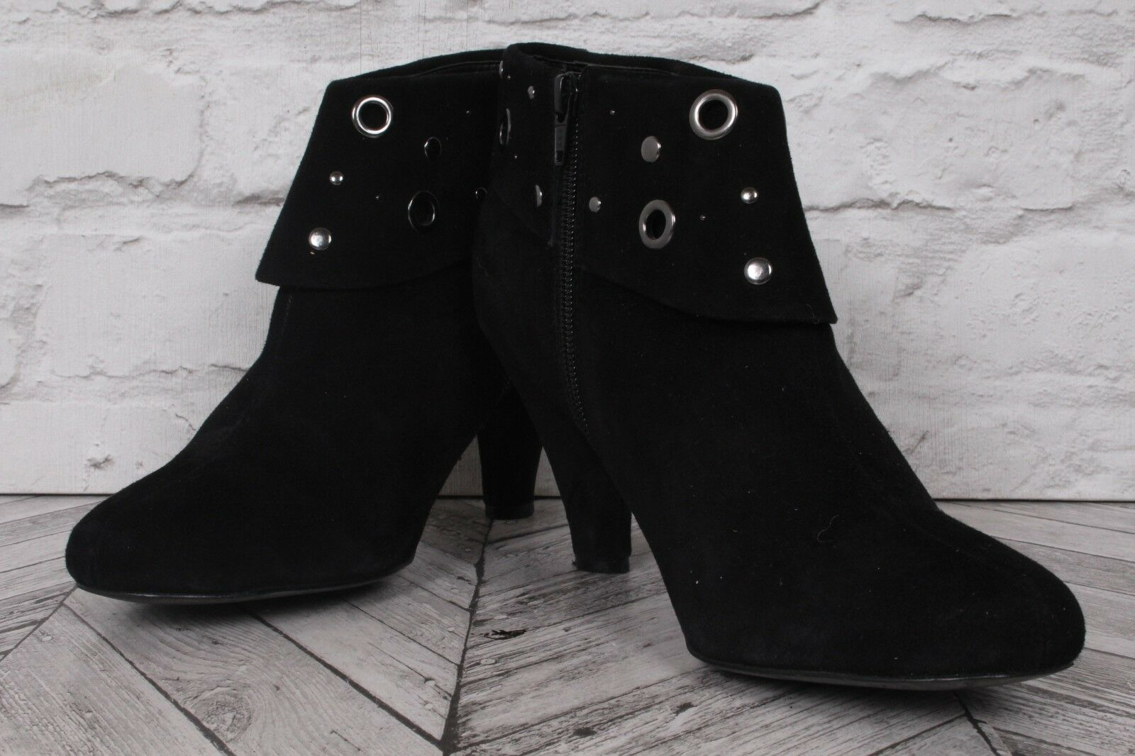 LONG TALL SALLY   Faux Suede Leather Ankle Knee WINTER Boots EU 40.5 UK 7