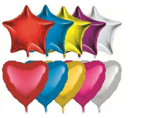 10Pcs  Five-pointed Star Helium Foil Balloon Holidays Party Supply IT