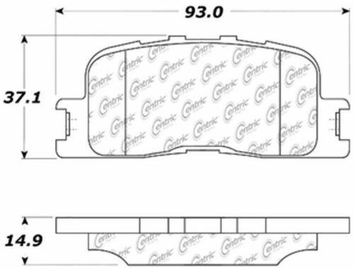 D885 FITS VEHICLES ON CHART BRAND NEW CTEK REAR BRAKE PADS 102.08850