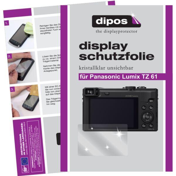 6x Dipos Panasonic Lumix Dmc Tz61 Film De Protection D'écran Cristal Clair RafraîChissant Et BéNéFique Pour Les Yeux