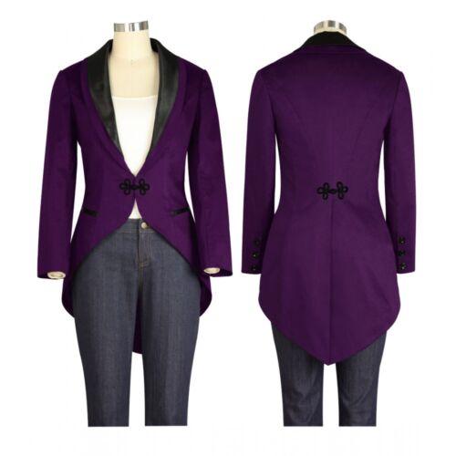 28 Violet Steampunk 6 Tuxedo Chicstar Uk Victorian Style De Taille Tailcoat Veste À Rw7pdCq7