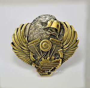 Biker belt buckle Águila Eagle motor de moto-motivo adorno en la cintura * 098 oro