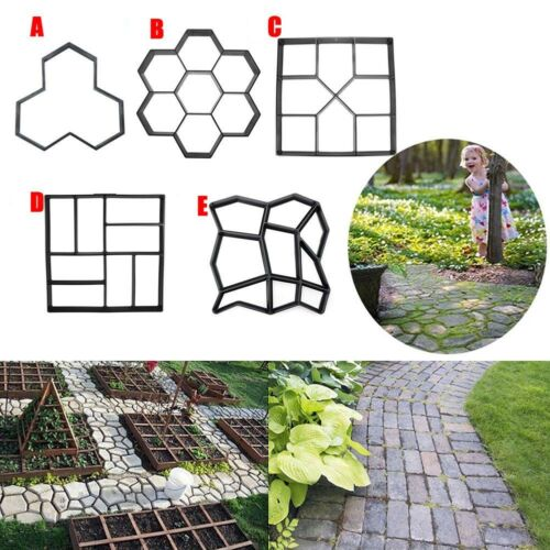 Garten Kunststoff Pfad Maker Pflaster Modell Beton Trittstein Zement Form DIY
