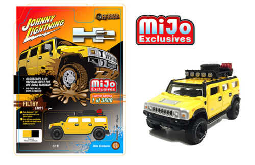 Johnny Lightning Hummer H2 Wagon Yellow JLCP7156 1//64 3600 PCS