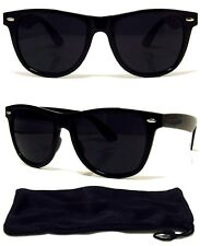 80s Extra Dark Lens Retro Sunglasses Black Frame Case