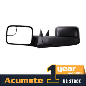 Pair Tow Power Side Mirrors Telescoping For 94-97 Dodge Ram 1500 2500 3500 OEM