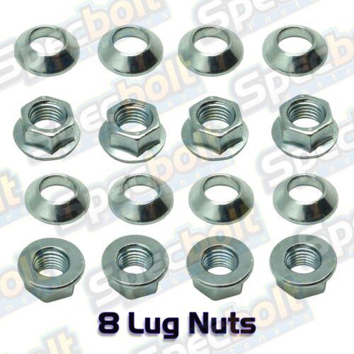 8pc Specbolt TRX250R Fourtrax Lug Nut Set 2 Wheels TRX 250R 86 87 88 89 10mm